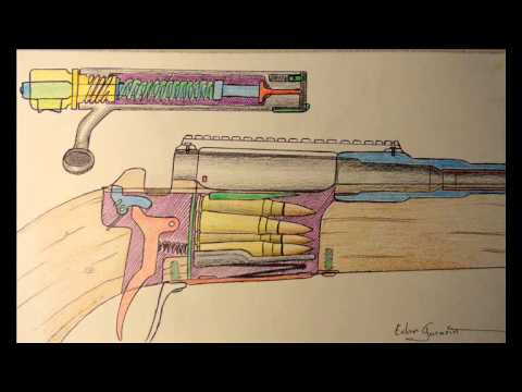 Drawn shotgun bolt action rifle Rifle snowface27? YouTube Diagram from