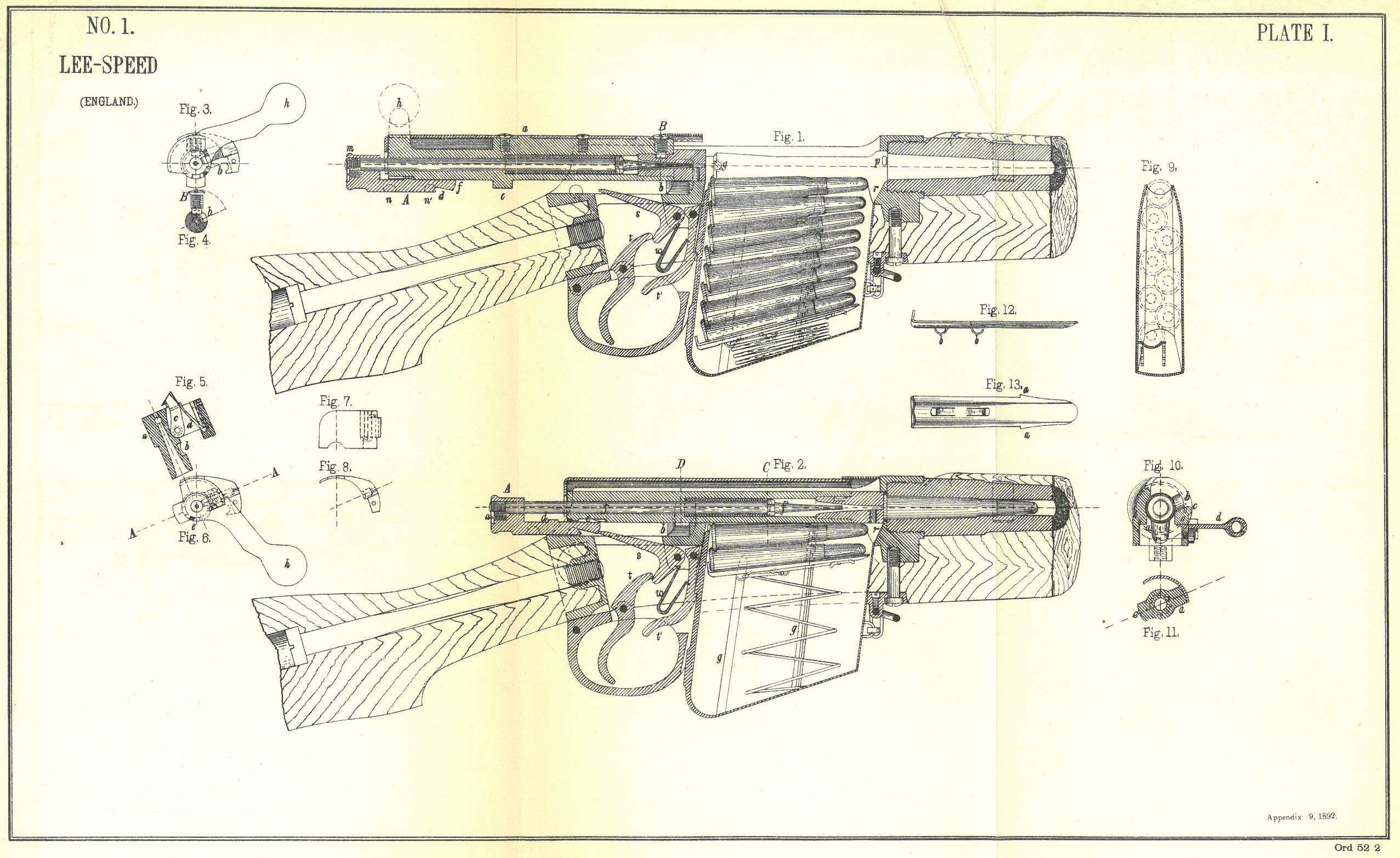 Drawn shotgun bolt action rifle Systems diagram Forgotten Weapons –