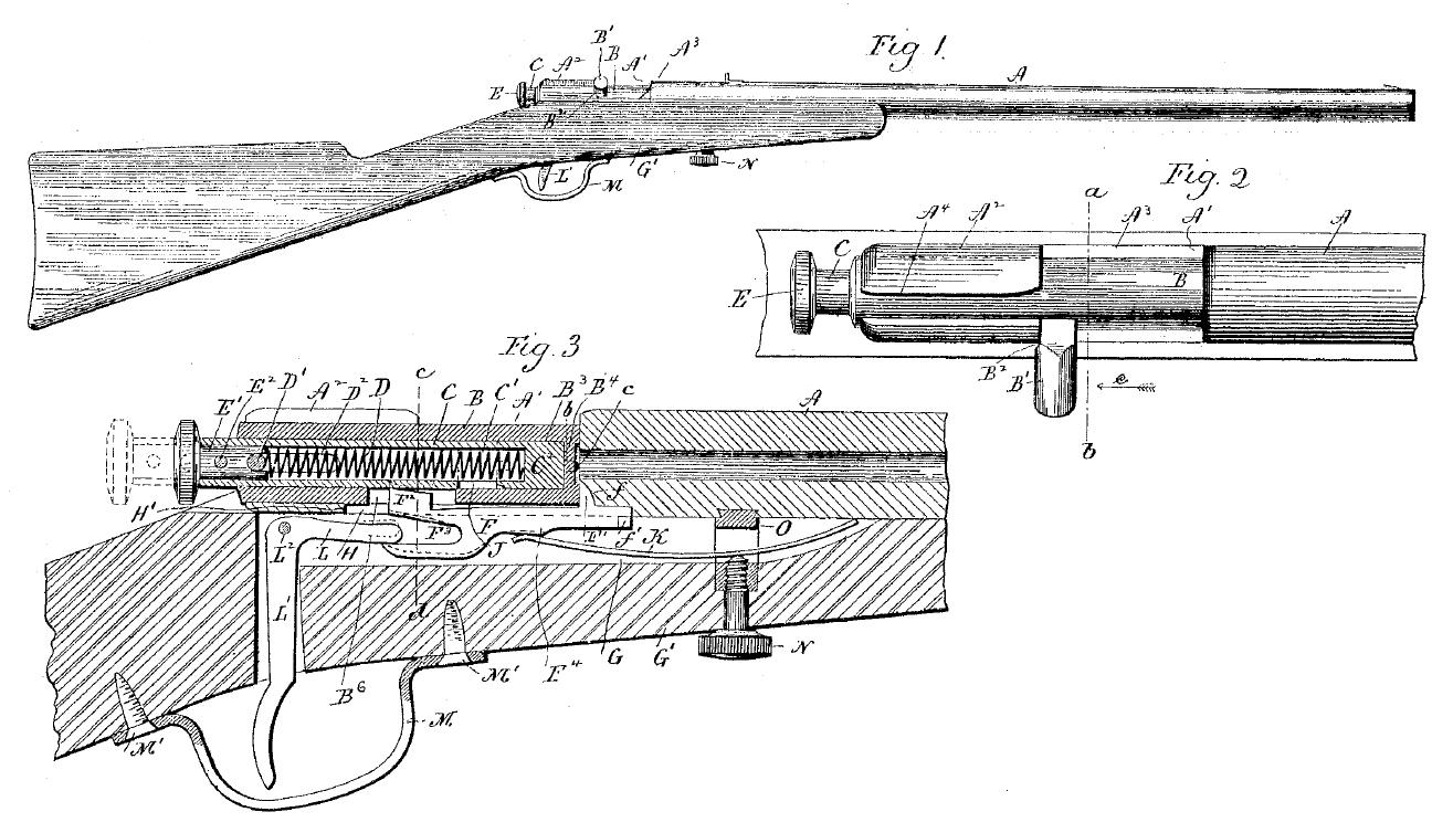 Drawn shotgun bolt action rifle Static www Archive action HomeGunsmith