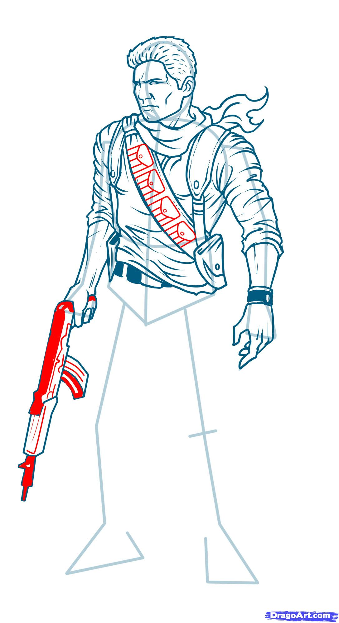 Drawn shotgun draw a Uncharted Video Draw Uncharted