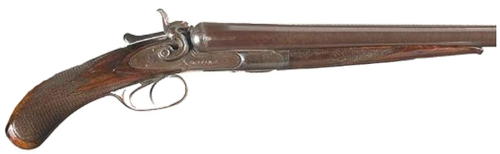 Drawn shotgun old gun RPG M&M West Writeups West