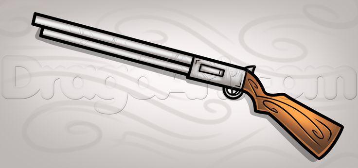 Drawn shotgun pencil Shotguns Best Drawings Stuff how