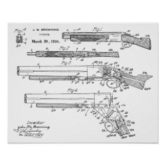 Drawn shotgun pencil Zazzle Posters 1926 Art Shotgun