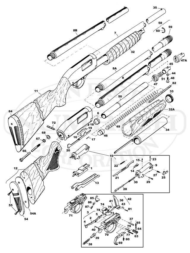 Drawn shotgun pump action Action Numrich PUMP Accessories Gun