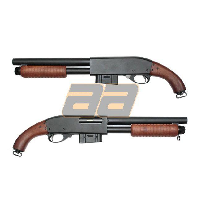 Drawn shotgun pump action » defense Shotgun Sawed »
