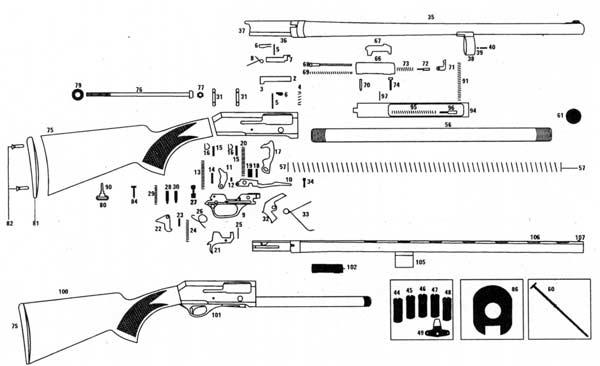 Drawn shotgun pump action Let any and can Manual