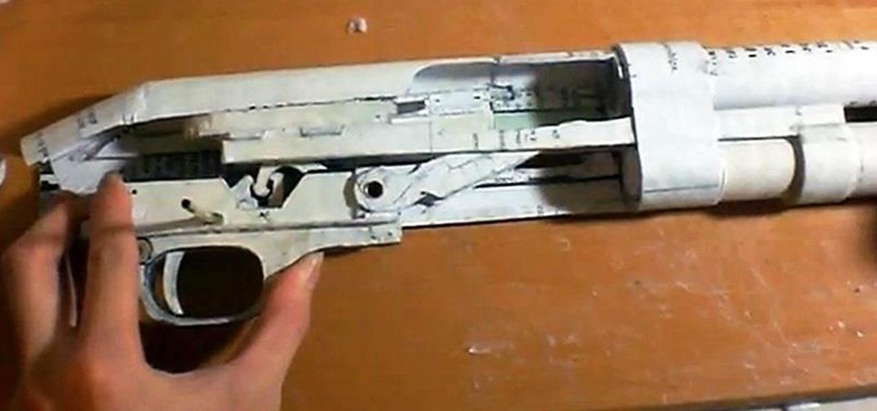 Drawn shotgun pump action Functional Pump Fully Made Made