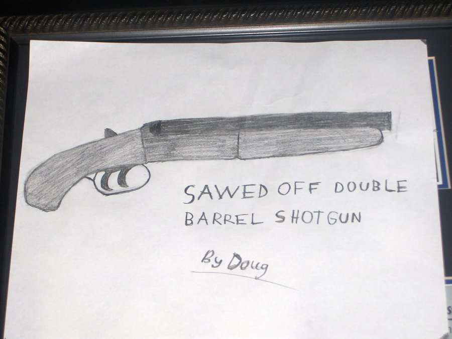 Drawn shotgun revolver gun Shotgun on flamster2468 barrel DeviantArt
