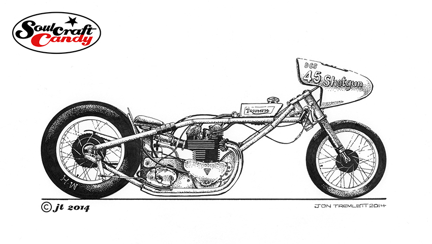 Drawn shotgun simple – the Dragsters Soulcraftcandy finished