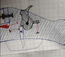 Drawn shotgun small Trigger Action hammer Steps Scratch!: