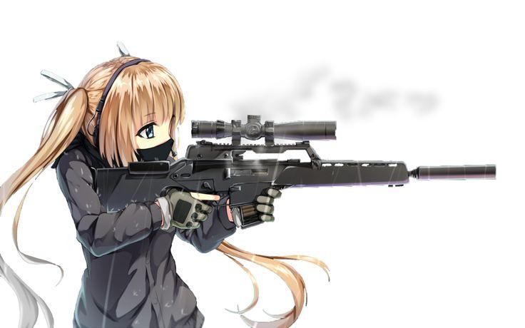 Drawn shotgun sniper rifle Google  with angel nightcore