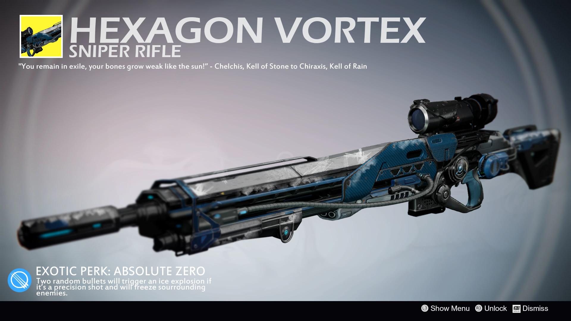 Drawn shotgun sniper rifle Rageblade66 Shell Vortex Hexagon Sniper