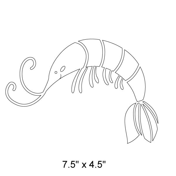 Drawn shrimp easy 162 best Templates Shrimp Stencil