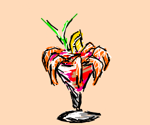 Drawn shrimp By (drawing Shrimp Cocktail Infamous)