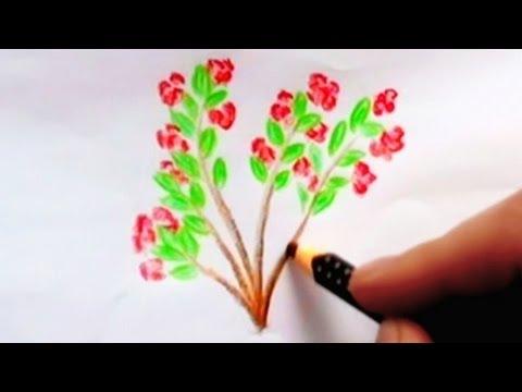 Drawn bush easy Pencils: To How Flower Plant