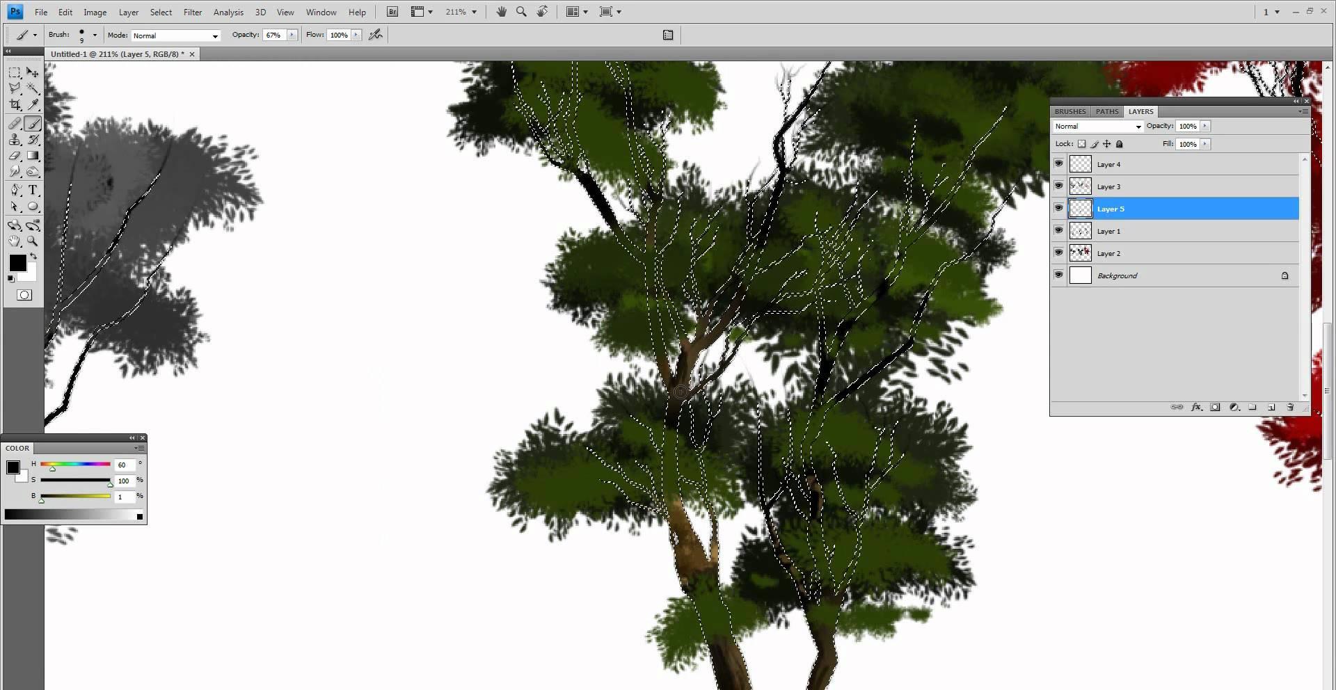 Drawn bush plane tree Trees to How draw YouTube
