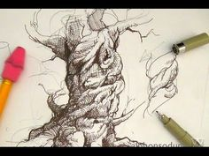 Drawn spheric ink Learn  a pen Free