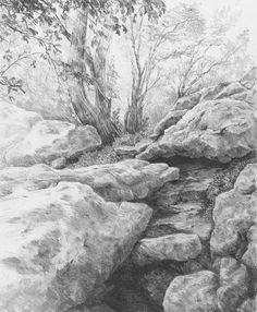 Drawn mountain realistic To How Trees on Draw