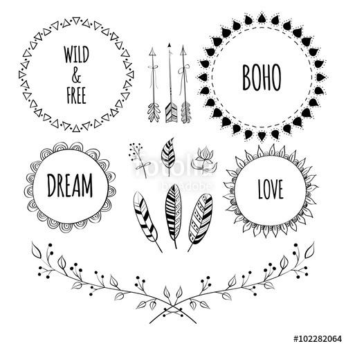 Drawn sign Boho drawn Style  of