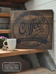 Drawn sign Coffee great Bar on Decor