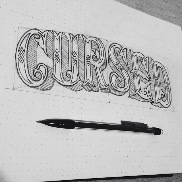 Drawn sign circus Hand lettering carnival Way circus