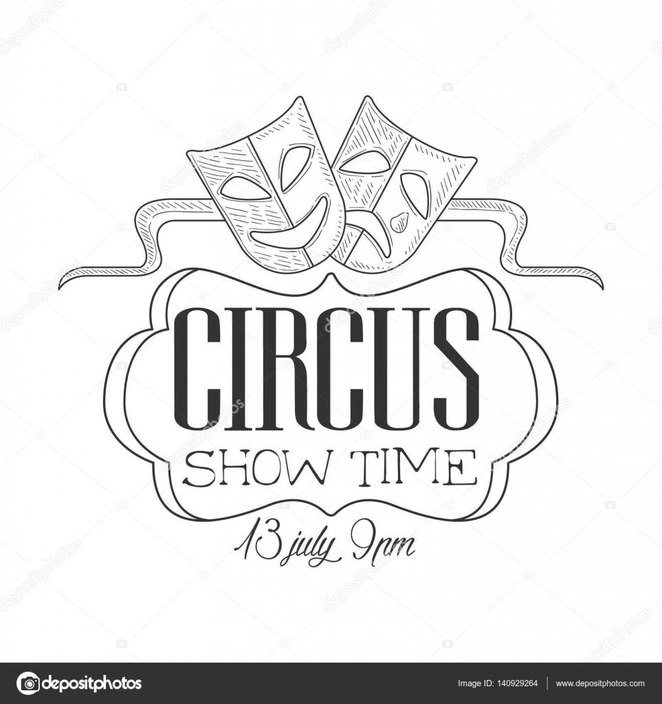 Drawn sign circus  Masks In Drawn Circus