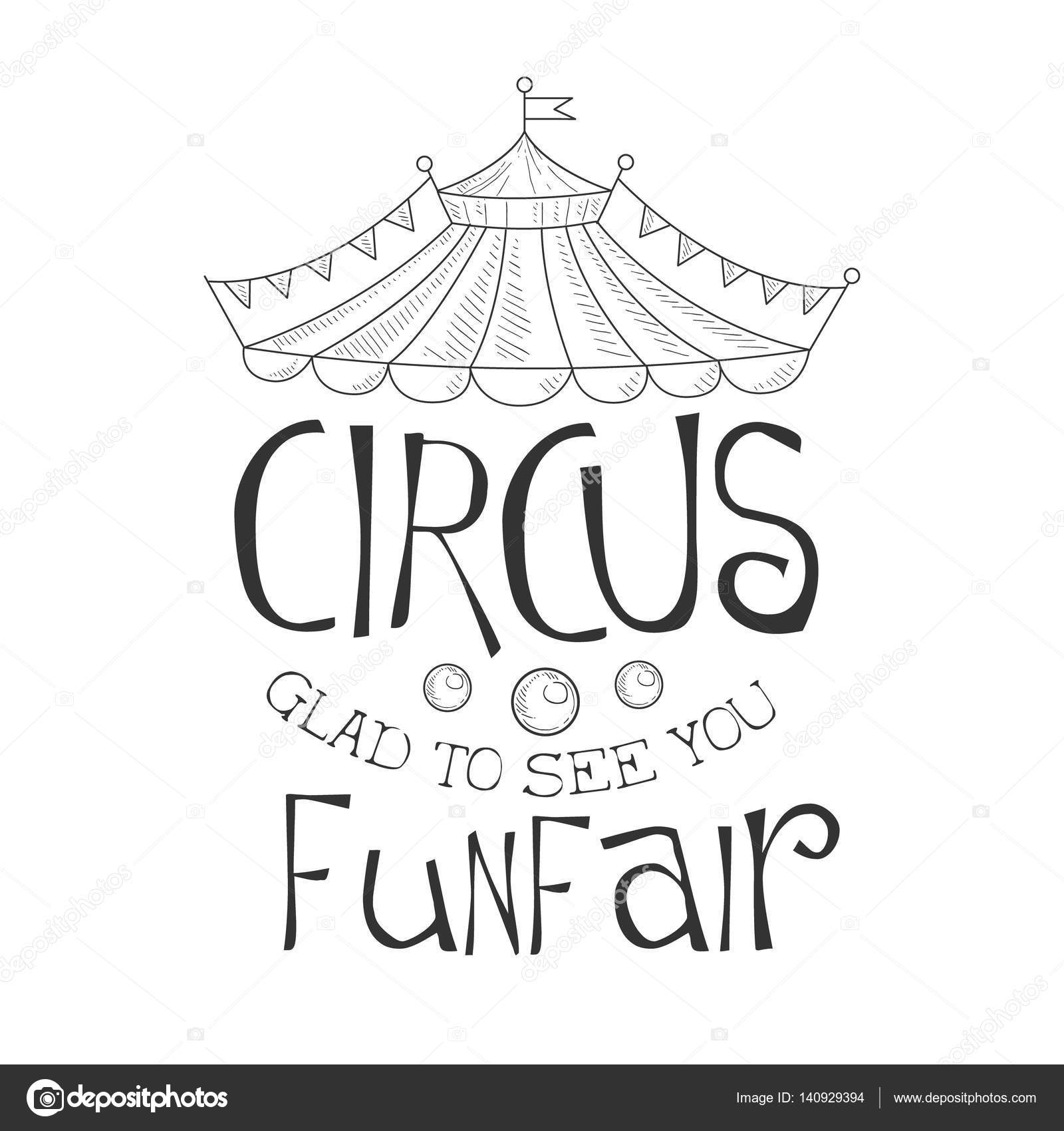 Drawn sign circus Show Promotion Sign Drawn To