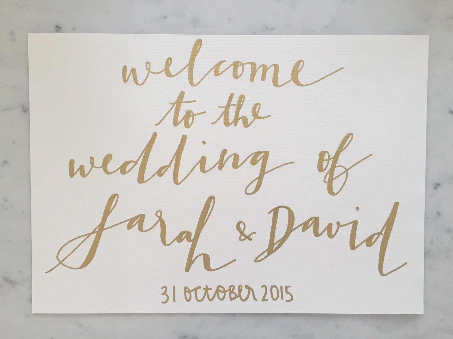 Drawn sign custom Gold Modern Sign Sign Drawn