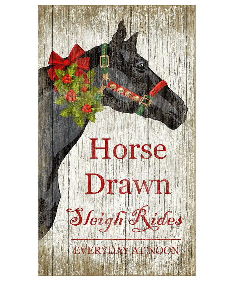 Drawn sign custom Christmas Custom Style Custom Horse