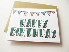 Drawn sand happy birthday By this Card Birthday cute