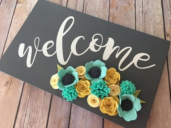 Drawn sign handmade Best 25+ Decor/Welcome/Wood Sign Welcome