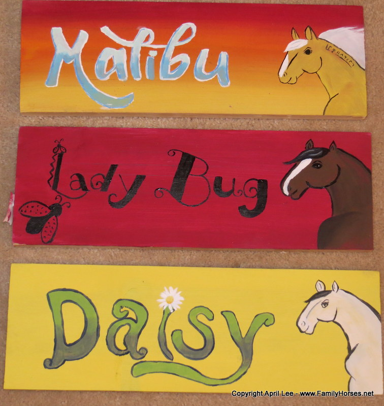 Drawn sign horse stall Adopt Mustang FamilyHorses net or