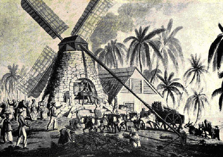 Drawn sign jamaican Jamaica Windmill century  drawing