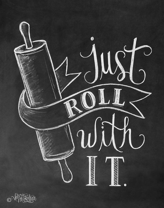 Drawn quote chalk Art Just With Kitchen It