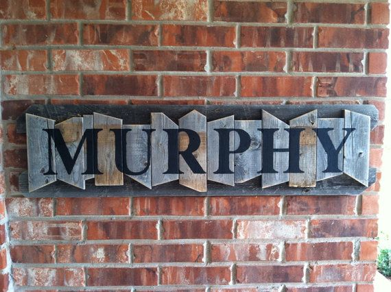 Drawn sign last name Name rustic plaques best on