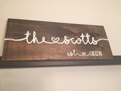 Drawn sign last name Last with 25+ Painted Wood