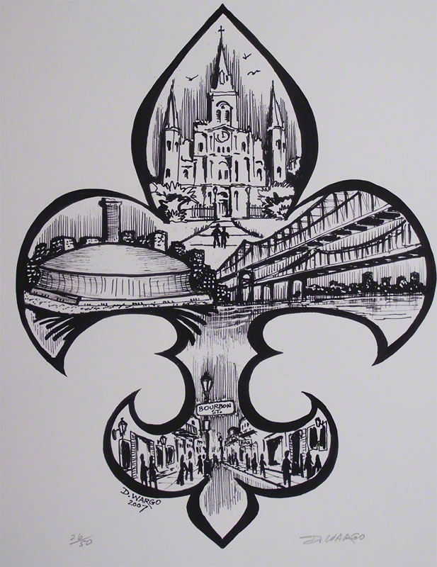 Drawn sign new orleans Fleur New by Orleans by