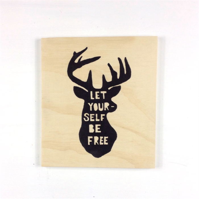 Drawn sign Drawn hanging hand stag Deer