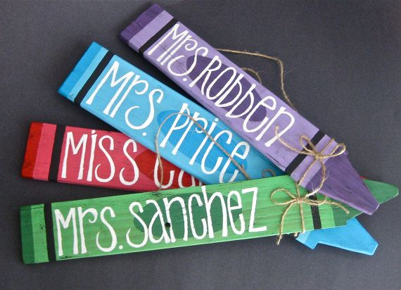 Drawn sign teacher name Name ideas Gift sign Hanging