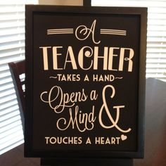Drawn sign teacher name Teacher how Let Gifts on