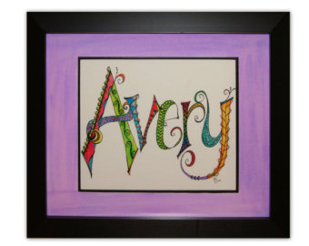 Drawn sign teacher name Gift Appreciation Gift Nursery Hand