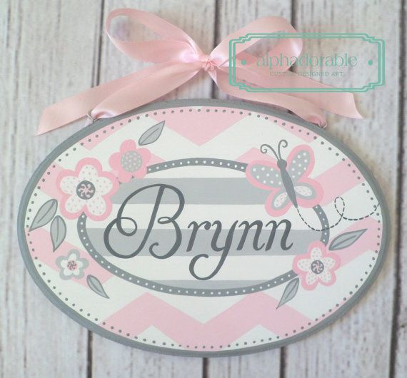 Drawn sign teacher name Butterflies Best and signs plate