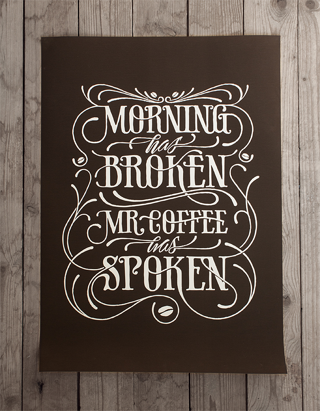 Drawn sign typographic Alander drawn typetoken® Hand typography