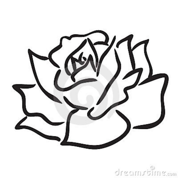 Drawn rose simple Drawings Simple simple Search line