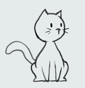 Drawn simple Cat simple like ideas drawing