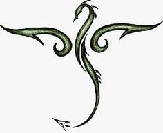 Drawn simple dragon Small Simple tattoo Black ideas