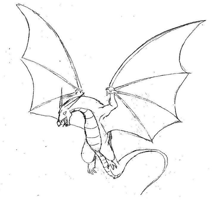 Drawn simple dragon Easy Flying drawing 25+ 2