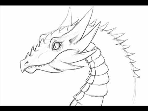 Drawn simple dragon Doodle 1 minute draw fast