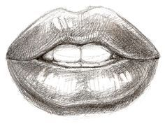 Drawn simple lip tumblr Search like facebook original pencil