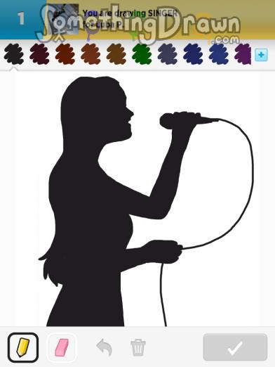 Drawn singer #7
